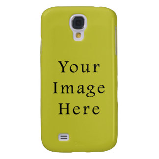 Bright Lime Green Color Trend Blank Template Galaxy S4 Case