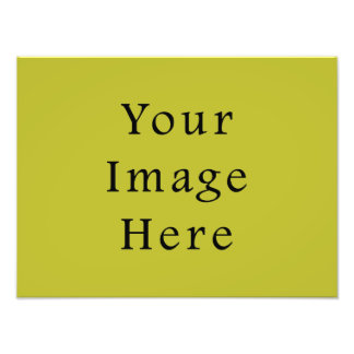 Bright Lime Green Color Trend Blank Template Photo Print