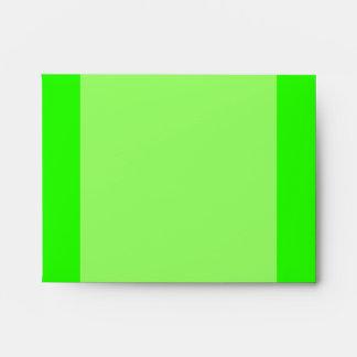 Bright lime green envelope