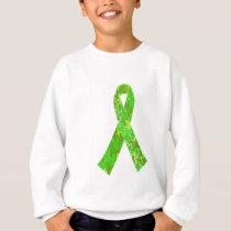 Bright Lime Green Jigsaw Puzzle Pattern Ribbon Sweatshirt