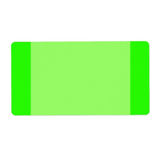 Bright lime green label