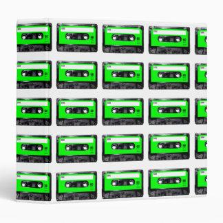 Bright Lime Green Label Cassette Binder
