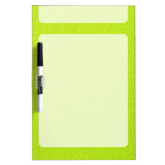 Bright Lime Green Neon Trendy Colors Dry Erase Board