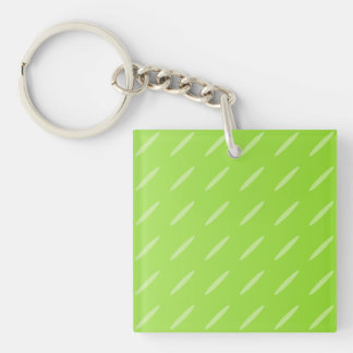 Bright Lime Green Patterned Background Design. Acrylic Keychain