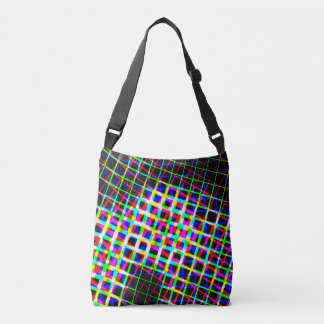 Bright Lines Plus Over Body Bag Tote Bag