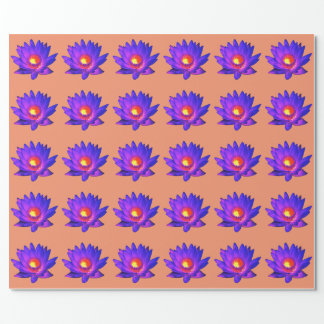 Bright Lotus Flower Wrapping Paper