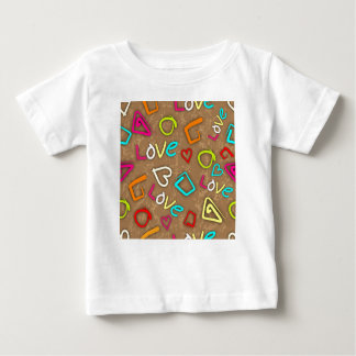 Bright Love Scribbled Design Baby T-Shirt