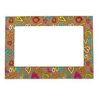 Bright Love Scribbled Design Magnetic Frame