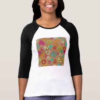 Bright Love Scribbled Design T-Shirt