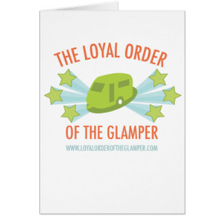 Bright Loyal Order of the Glamper Logo Card