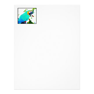 Bright Macaw Parrot Portrait Letterhead