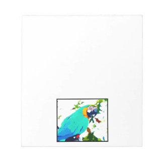 Bright Macaw Parrot Portrait Notepad
