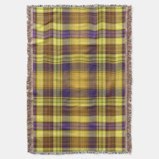 Bright Madras Throw Blanket