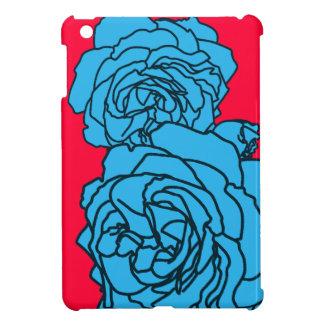 Bright Magenta & Aqua Pop Art Roses for iPad Mini Cover For The iPad Mini