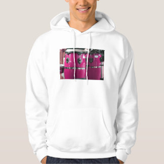 Bright magenta conga drums photo.jpg hooded pullover