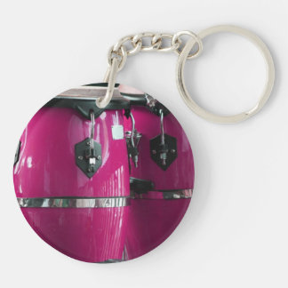 Bright magenta conga drums photo.jpg keychain