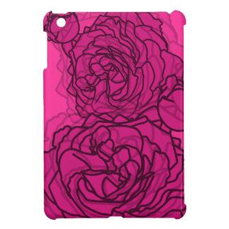 Bright Magenta & Pink Pop Art Roses for iPad Mini iPad Mini Cases
