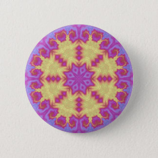 Bright Mandala Pinback Button