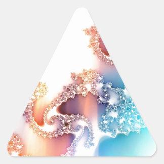 Bright Manipulated Fractal Triangle Sticker