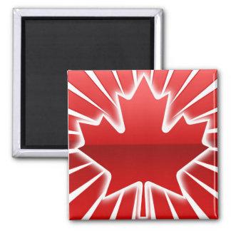 Bright Maple leaf design 2 Inch Square Magnet