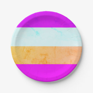 BRIGHT Marbled Fun STRIPES  7 inch Paper Plates