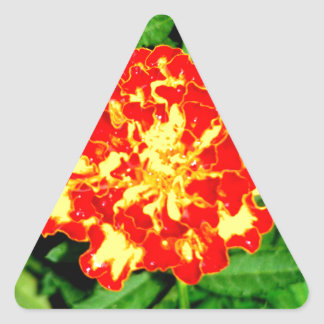 Bright Marigold Triangle Sticker