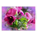 Bright Mauve Pansy card-customize any occasion