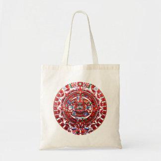 Bright Mayan Calender Tote Bags