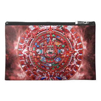 Bright Mayan Calender Travel Accessories Bag