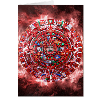 Bright Mayan Calender Greeting Card