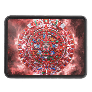 Bright Mayan Calender Tow Hitch Cover