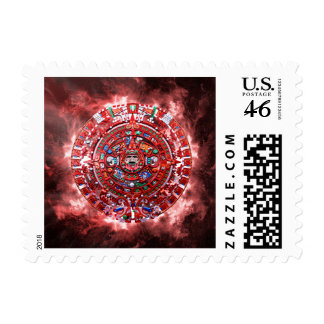 Bright Mayan Calender Postage Stamps