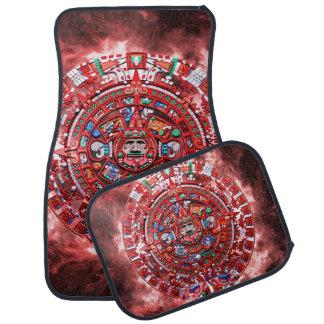 Bright Mayan Calender Car Mat