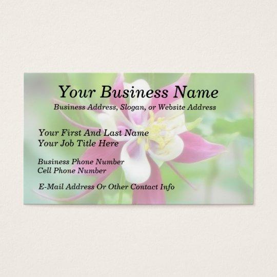 Bright McKana Type Columbine Business Card