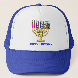 Bright Menorah Trucker Hat