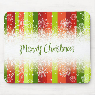 Bright Merry Christmas Holiday Design Mouse Pad