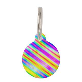 Bright Metallic Stripes Pet ID Tags