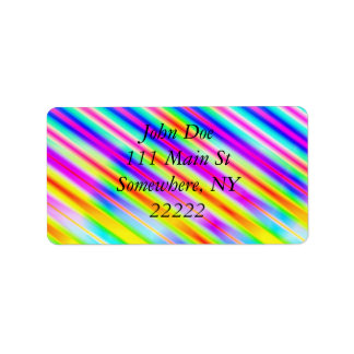Bright Metallic Stripes Label