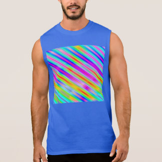 Bright Metallic Stripes Sleeveless Shirts