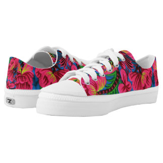 Bright Mexican Embroidered Textile Shoes