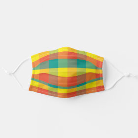 Bright Mexican Fiesta Plaid Cloth Face Mask