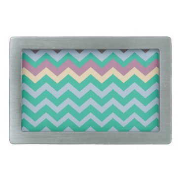 Beach Themed Bright Mix Of Chevron Colors Belt Buckle