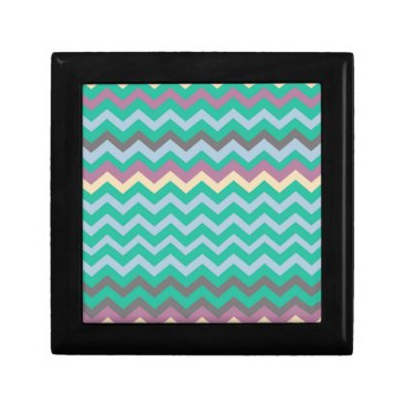 Beach Themed Bright Mix Of Chevron Colors Gift Box