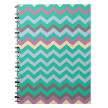 Beach Themed Bright Mix Of Chevron Colors Notebook