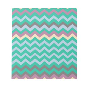 Beach Themed Bright Mix Of Chevron Colors Notepad
