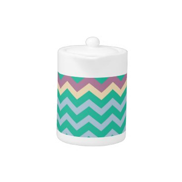 Beach Themed Bright Mix Of Chevron Colors Teapot