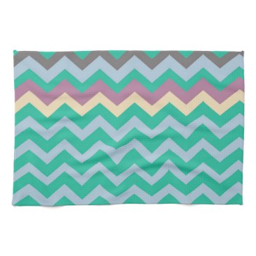 Beach Themed Bright Mix Of Chevron Colors Towel