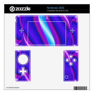 bright mod purple turquoise abstract skins for the 3DS