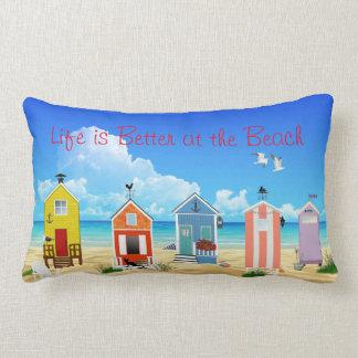 Bright, Modern Beach Houses Lumbar Pillow