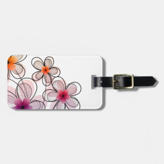 Bright Modern Flowers Luggage Tag